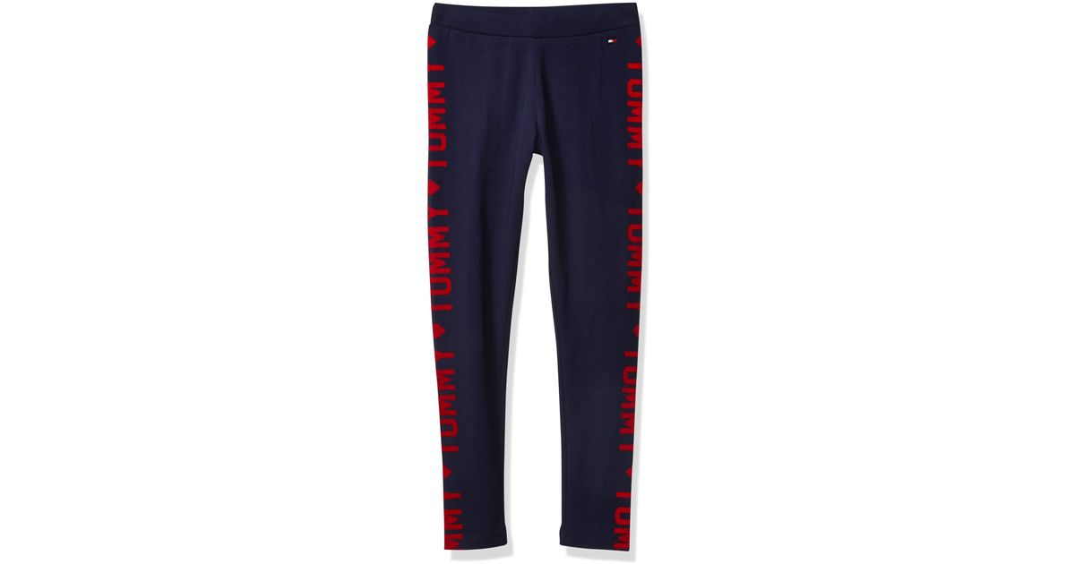 Tommy Hilfiger Girls Adaptive Leggings with Elastic Waist