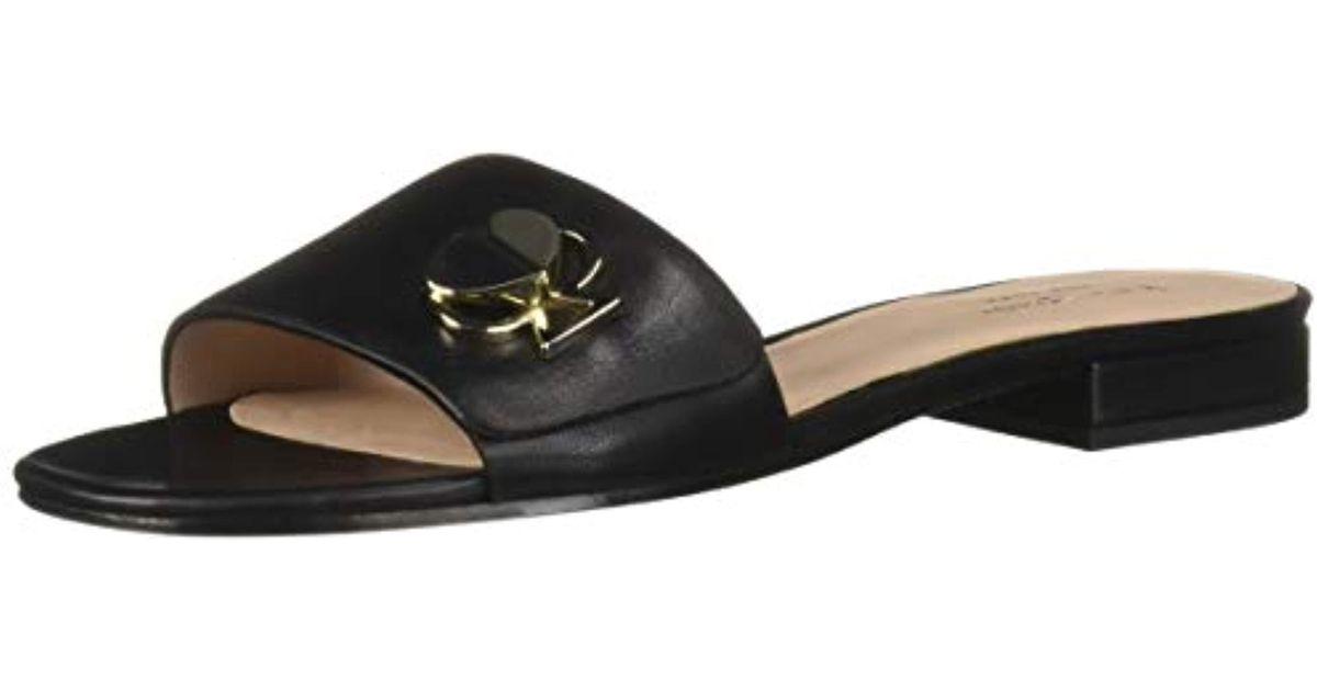 174025429 Lyst - Kate Spade Ferry Sandal Flat in Black