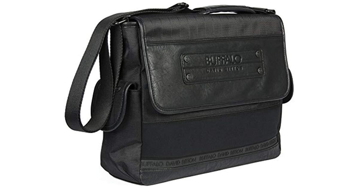 Lyst Buffalo David Bitton Mike Messenger Bag Black One Size In For Men