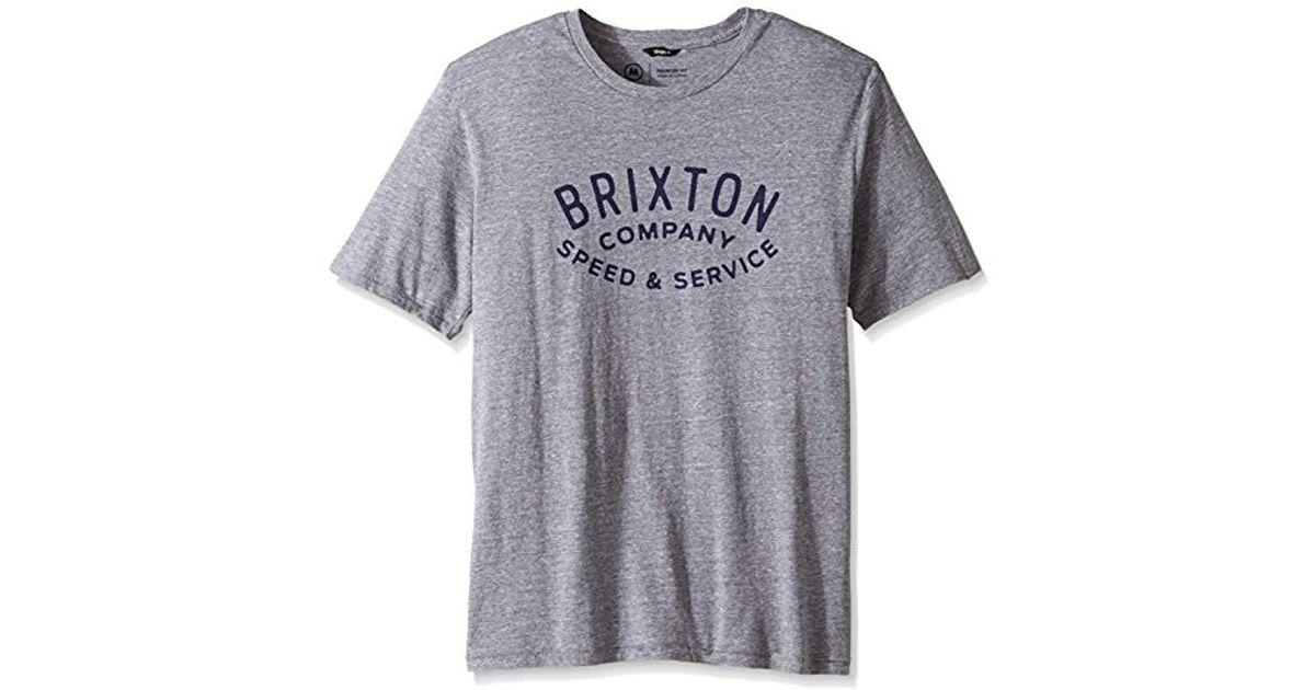 Brixton Mens Langley Short Sleeve Premium Tee