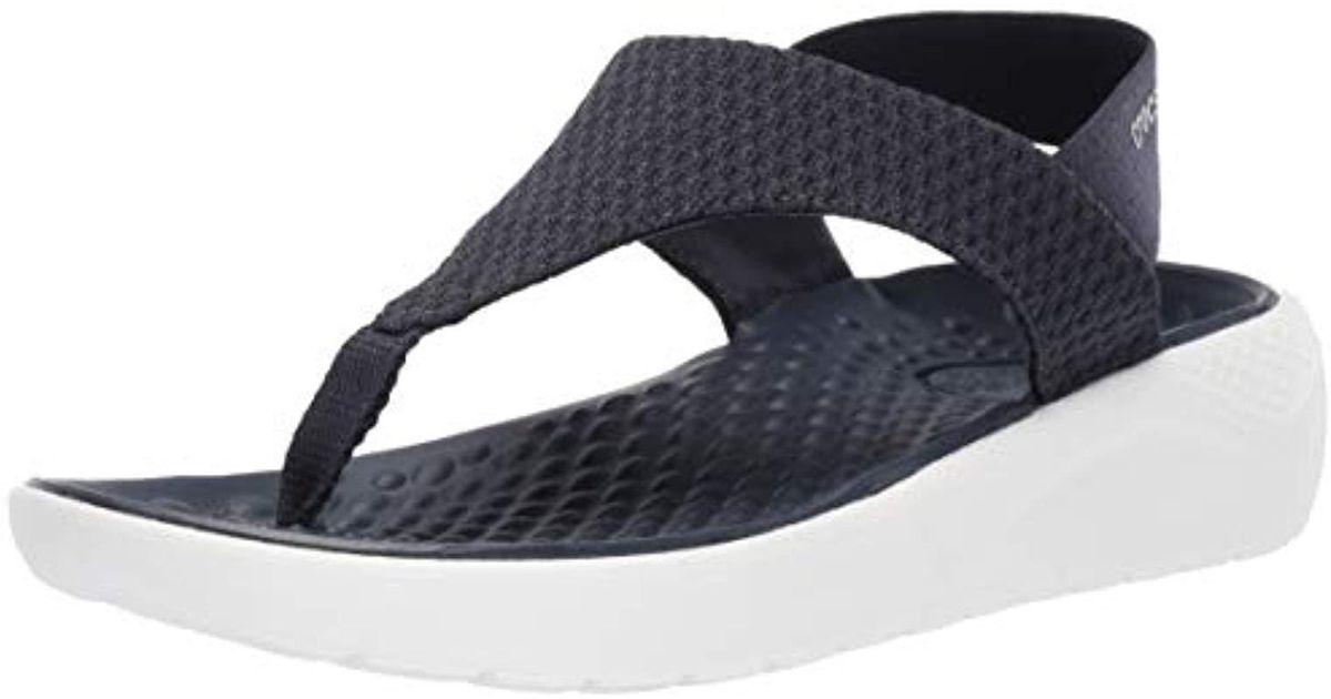 6cfadc0cba5d3c Lyst - Crocs™ Literide Mesh Flip Flop in Blue