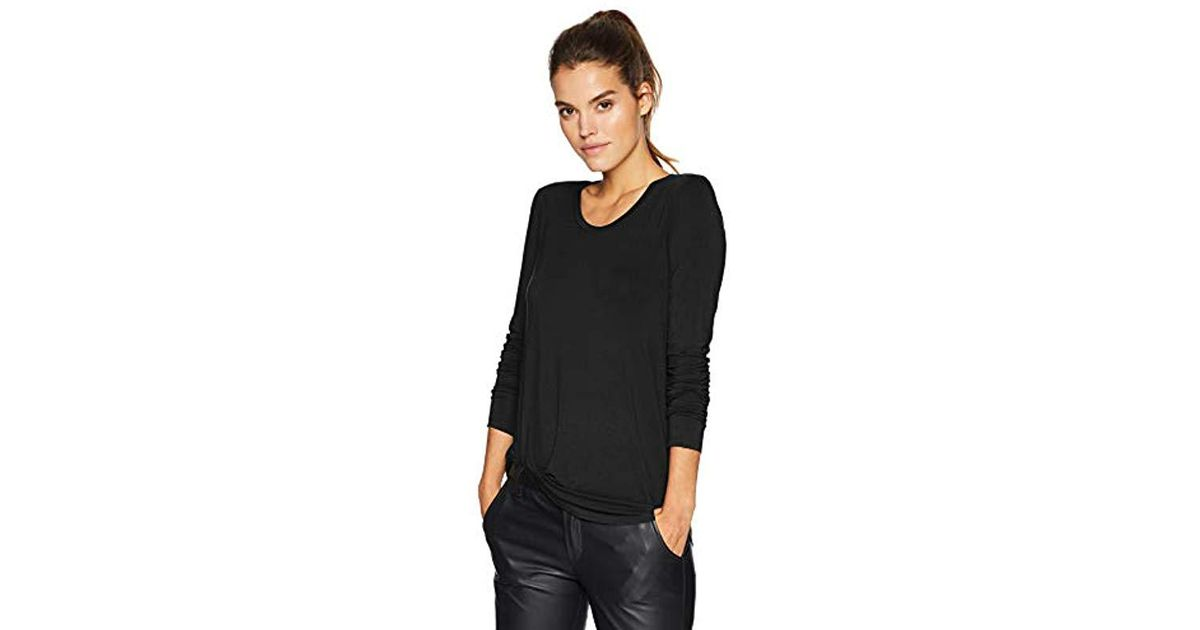 Brand Daily Ritual Womens Plus Size Jersey Long-Sleeve Scoop Neck Shirt