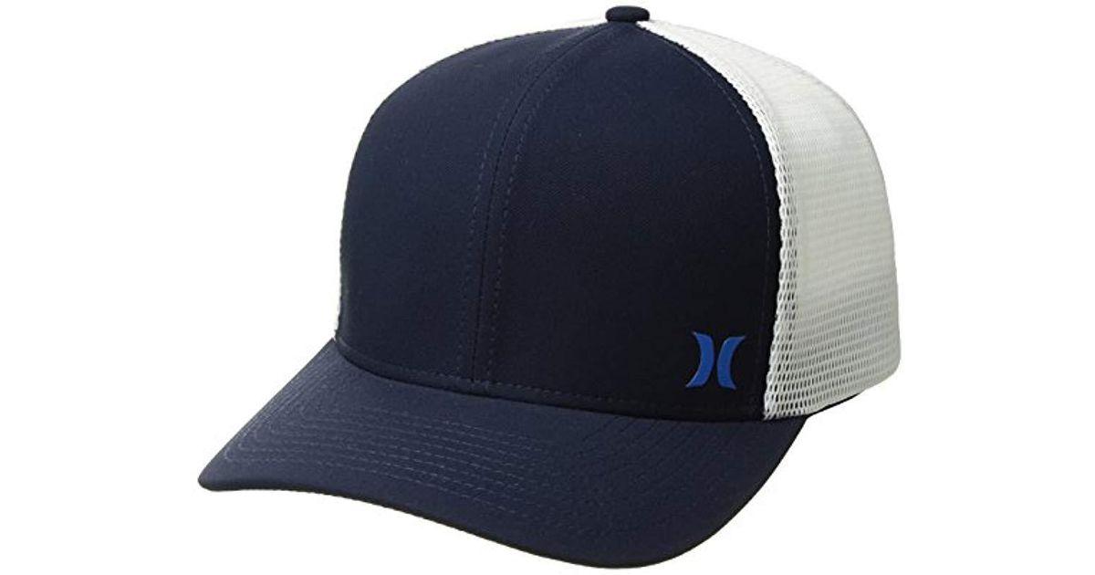 c50a6636 ... get lyst hurley milner curved bill snapback trucker cap for men e04d3  48e38 ...