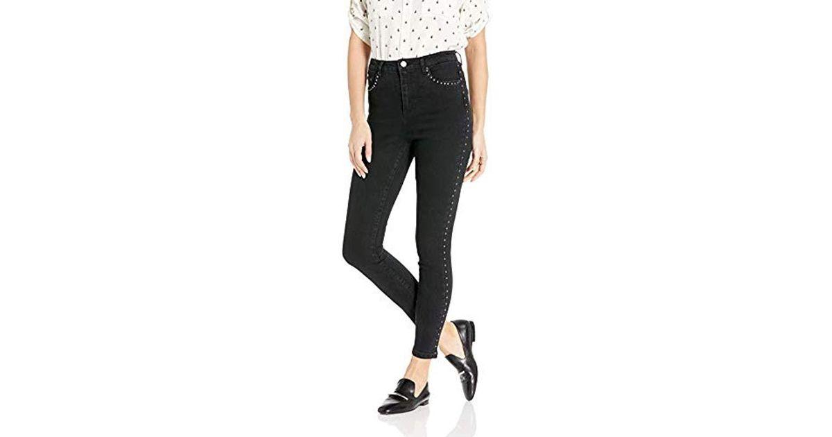069804b458 Lyst - Vero Moda Sophia High Rise Studded Waistband Jeans 30