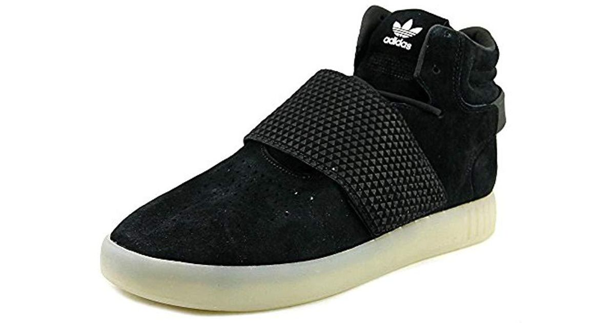 newest collection b160b 8769d Adidas Originals - Black Tubular Invader Strap Shoes - Lyst