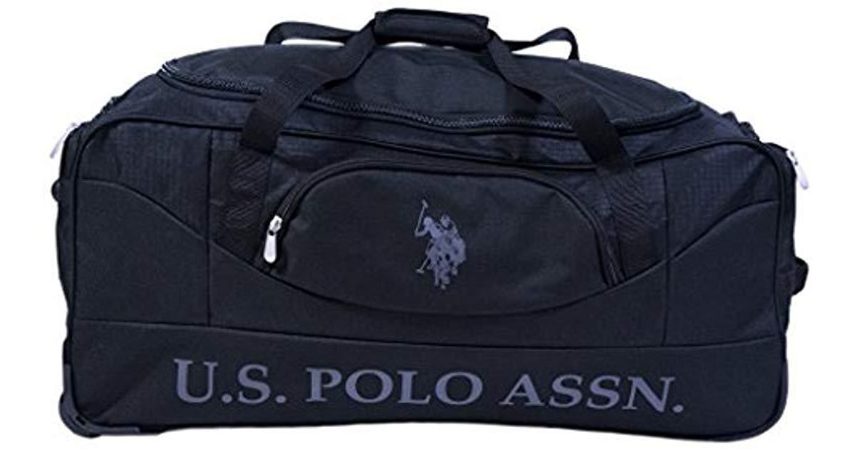 Lyst - U.S. POLO ASSN. 36in Rolling Duffel Bag Duffel Bag in Black for Men  - Save 18% 6b7d43866d5f1