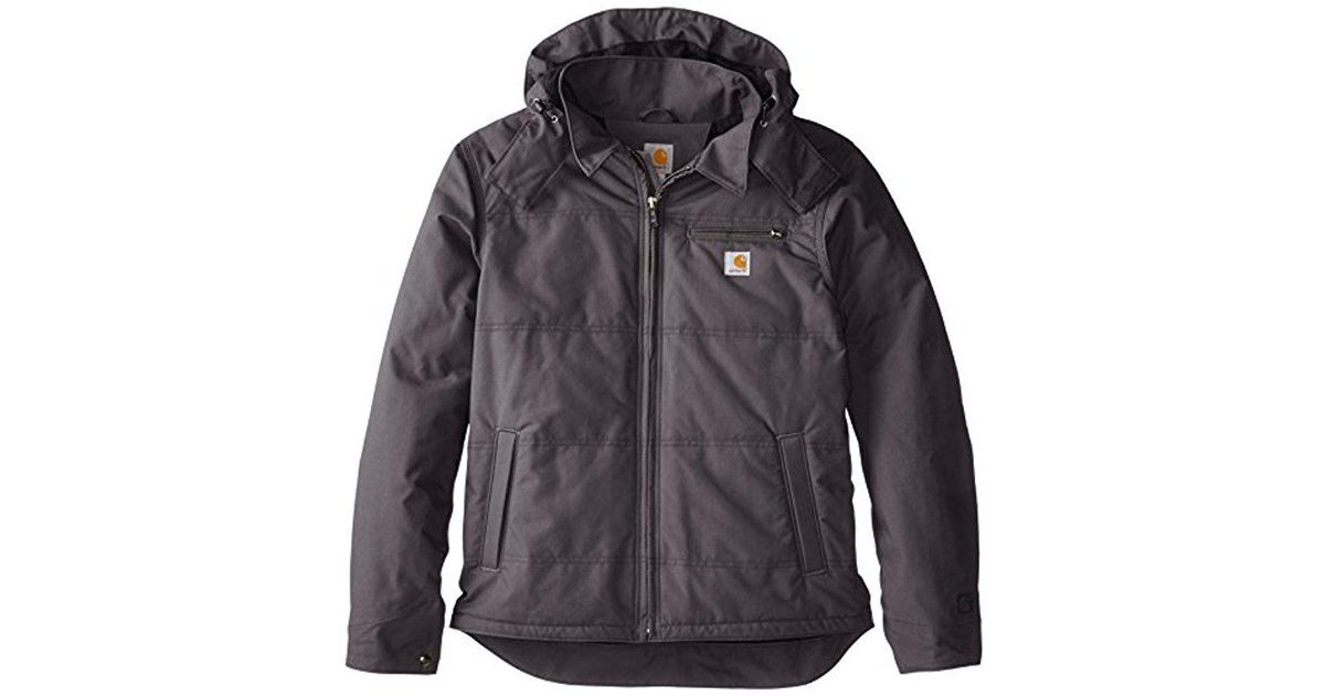 for whole family detailed look online for sale Carhartt Gray Big & Tall Quick Duck Livingston Jacket for men