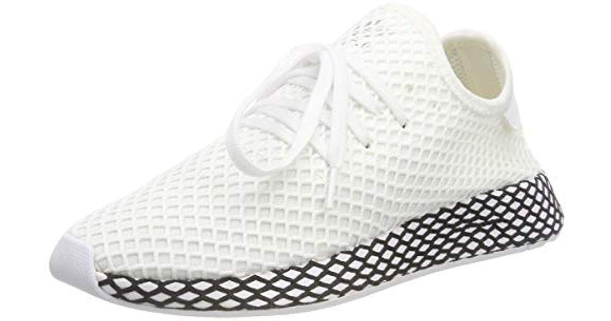 0ac0ce293193b Adidas White Deerupt Runner Gymnastics Shoes for men