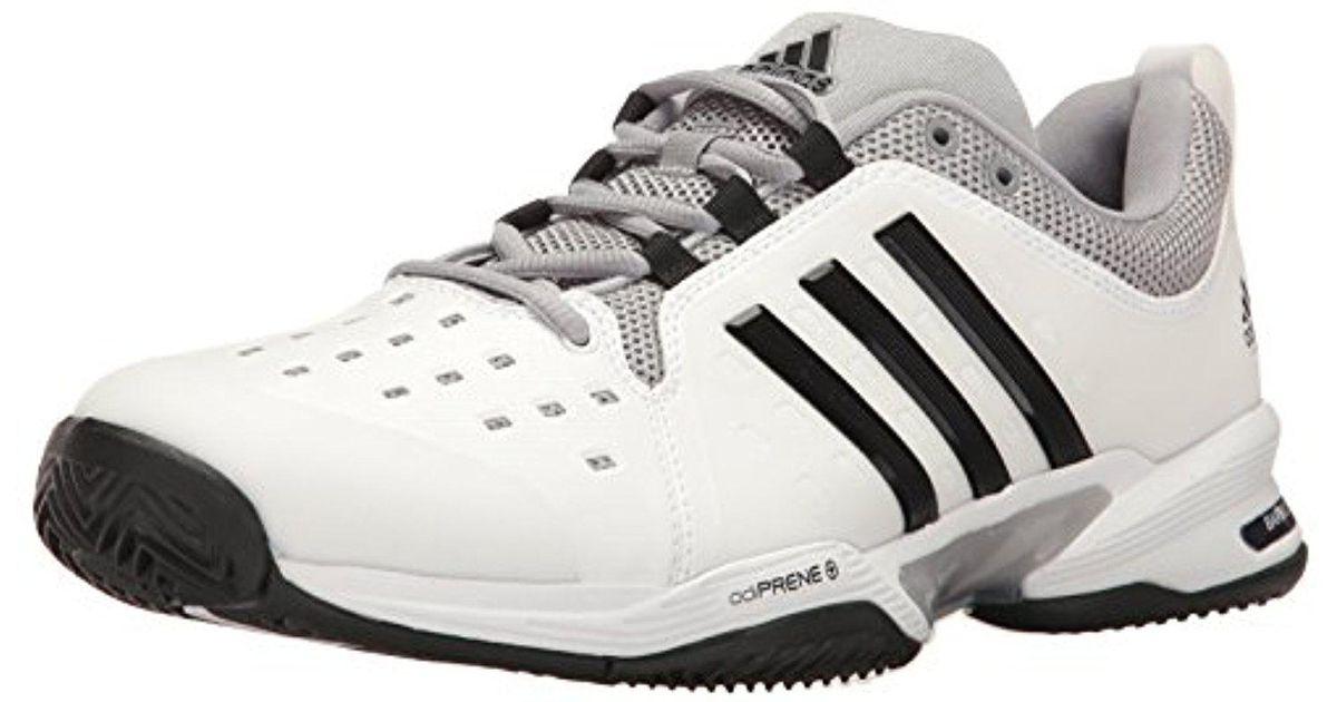 Adidas Barricade Classic Wide 4E Tennis Shoe Black/Silver Metallic/White 6 M