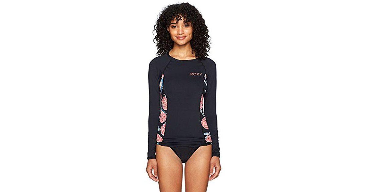 3ff7ab62233c2 Roxy Softly Love Fashion Long Sleeve Swim Rashguard in Blue - Lyst