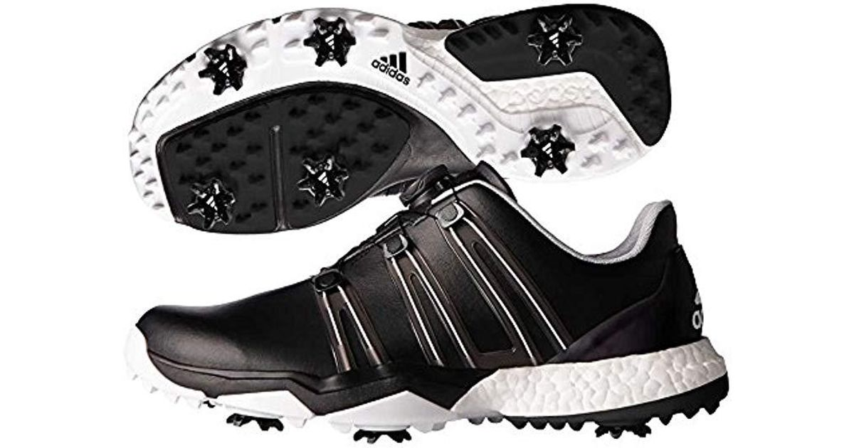 sale retailer 6336d ea808 Lyst - adidas Powerband Boa Boost Golf Shoe, Black white, 11.5 M Us in  Black for Men