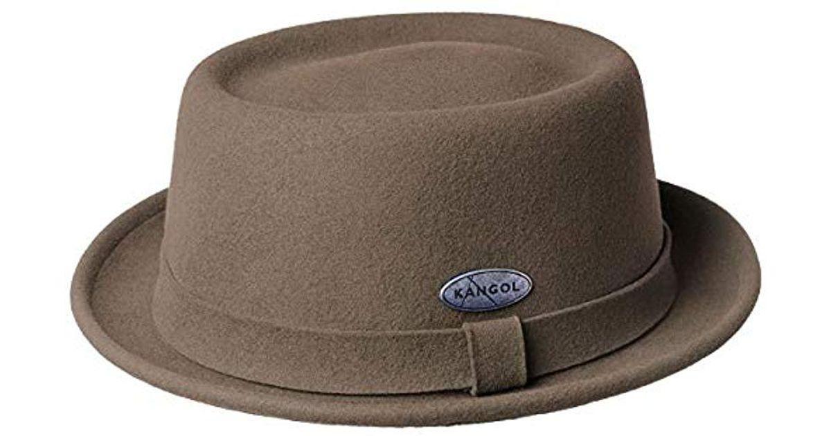 Lyst - Kangol Lite Felt Pork Pie Hat in Brown for Men e8a1b700c1d