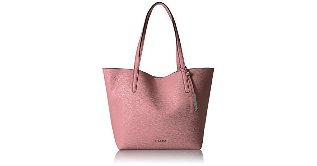 Calvin Klein Pink Unlined Novelty Chemtech Tote