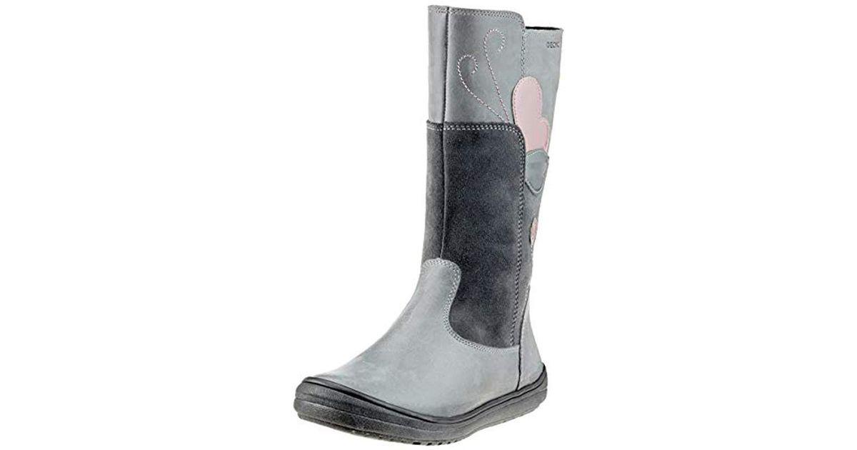J Hadriel Girl E, Botas Altas para Niñas, (Dk Grey C9002), 29 EU Geox de color Gray