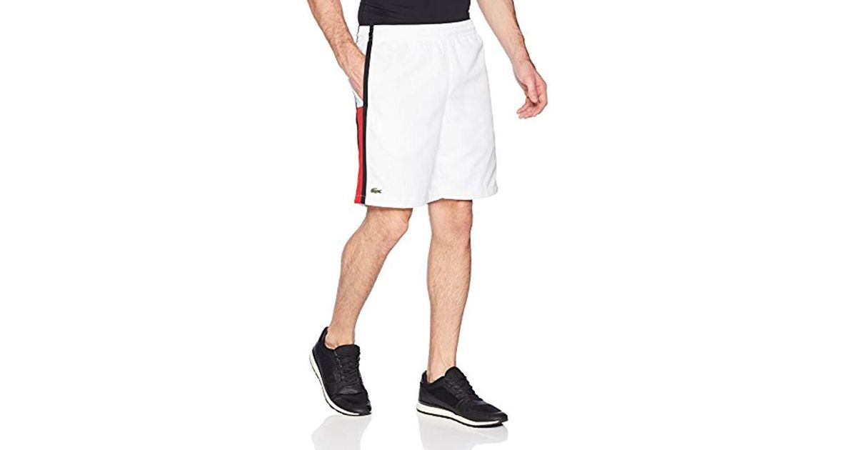 6dfa80a0e0 Lacoste Taffeta Diamond Short With Side Colorblock Detail, Gh314t in White for  Men - Save 31% - Lyst