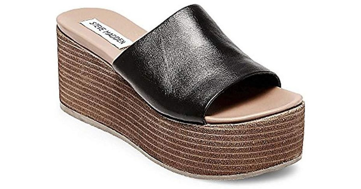 401d7302747 Lyst - Steve Madden Heated Wedge Sandal in Black