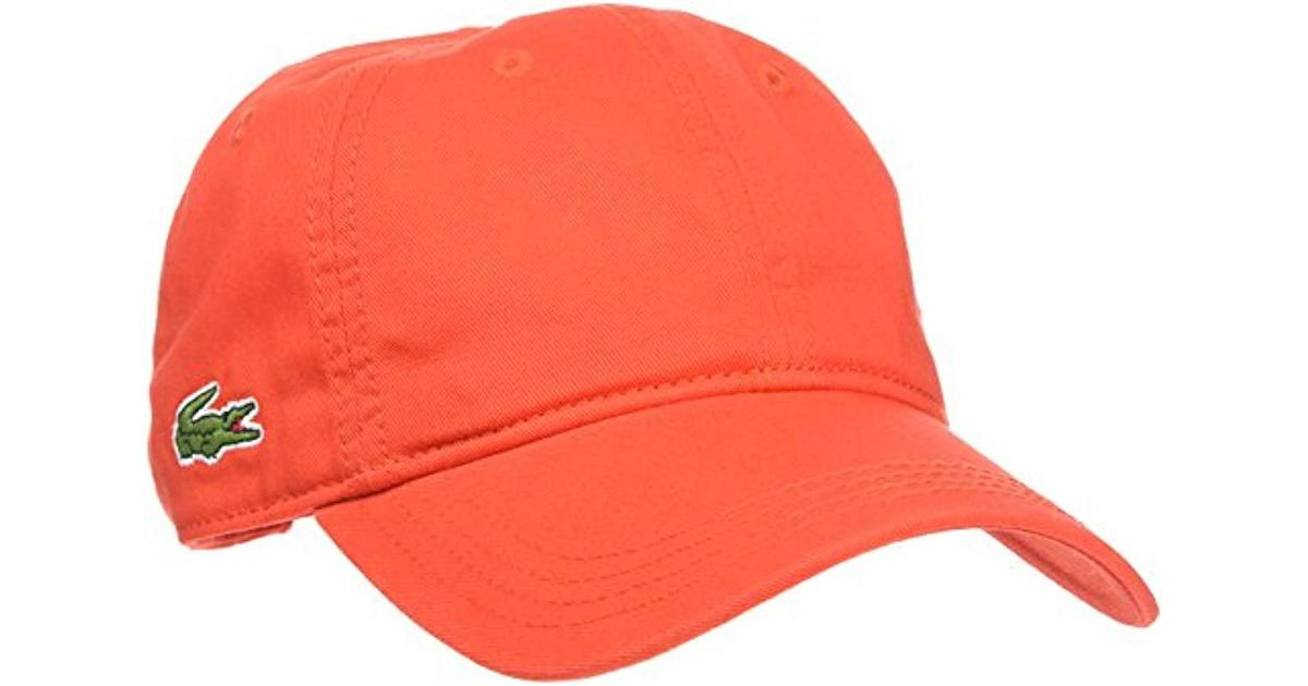 Lacoste Baseball Cap in Red for Men - Lyst b50432417d3
