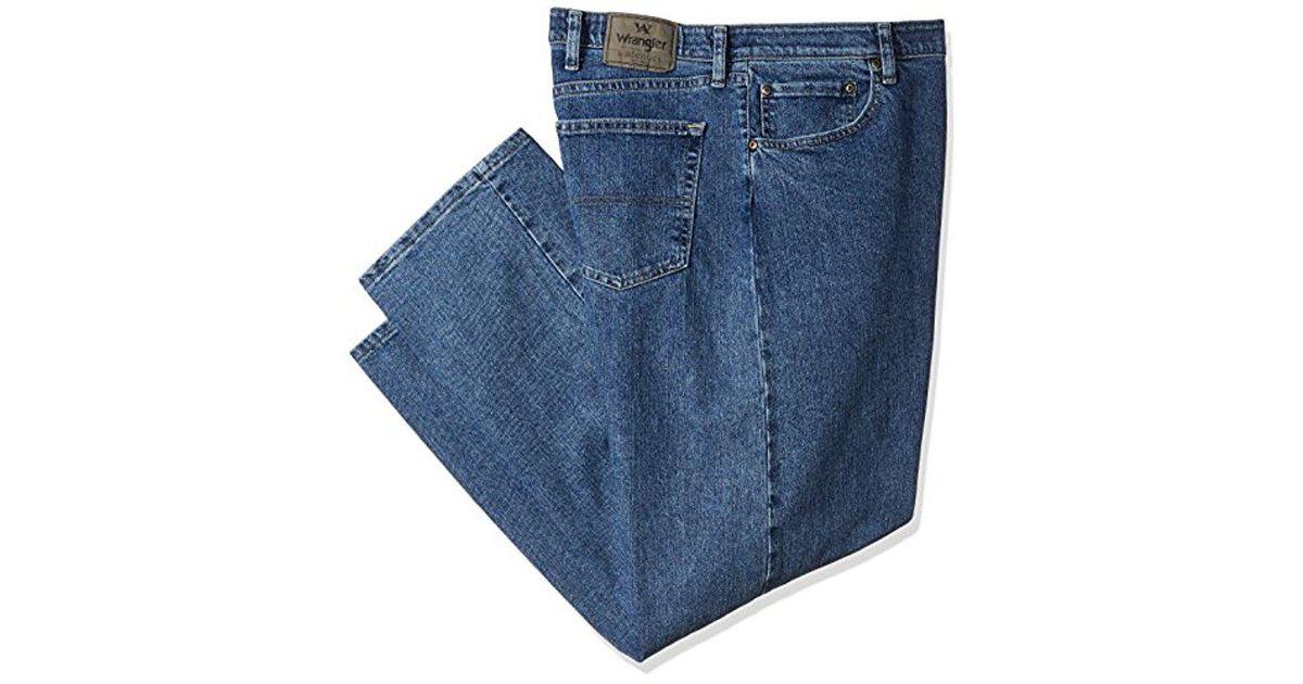 mens jean dark waist stonewash product authentics comforter comfort flex wrangler s men waistband