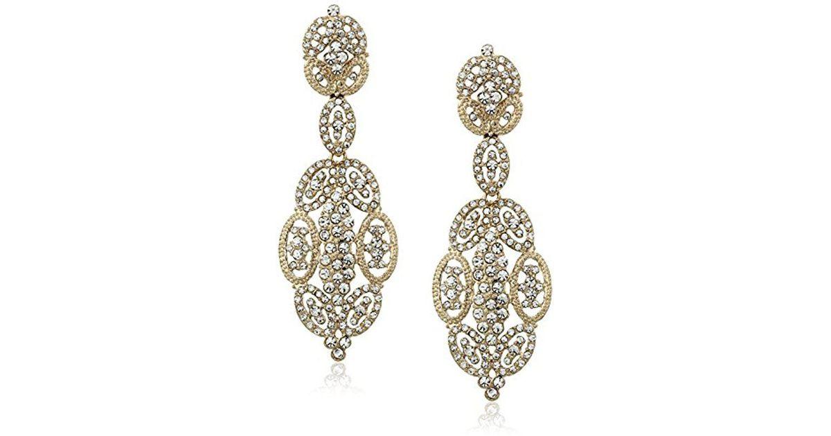 9a7852076 Lyst - Nina S Jules Glamorous Statement Swarovski Earrings in Metallic