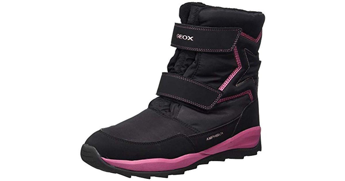 88d67bddd Geox Unisex Adults  J Orizont B Girl Abx A Snow Boots in Black - Lyst
