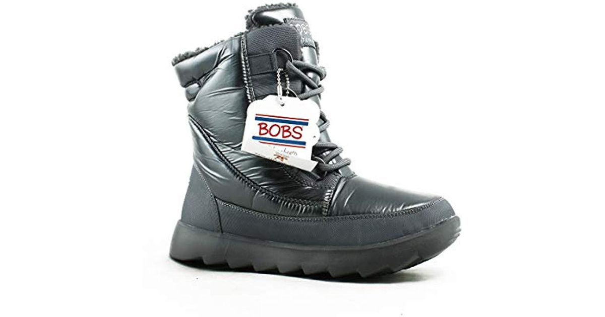Lyst - Skechers Bobs From Mementos Snow Cap Cozy Winter Boot in Gray b50975bcded