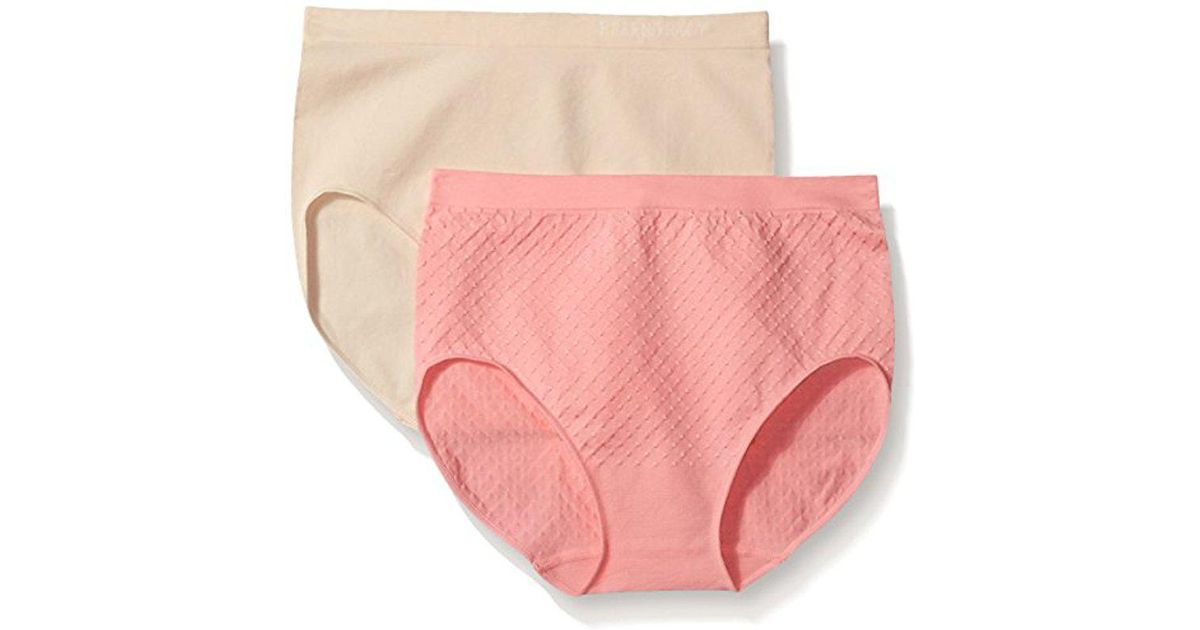 344a60168c14 Lyst - Ellen Tracy Dot Jacquard Full Brief Panty in Pink