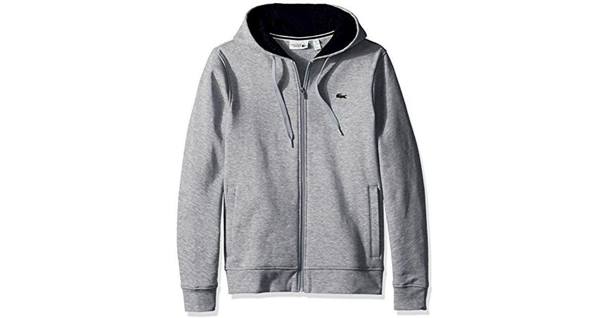681787a59af3 Lyst - Lacoste Full Zip Hoodie Fleece Sweatshirt
