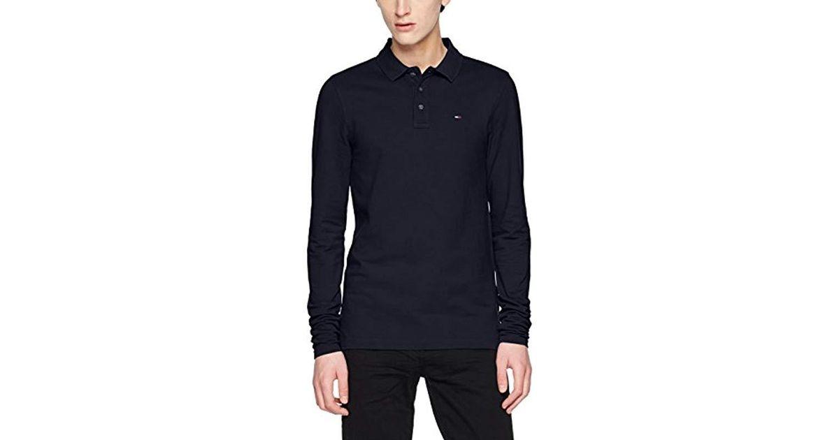 499a0e6b Tommy Hilfiger Basic Reg Long Sleeve Polo Shirt in Blue for Men - Lyst