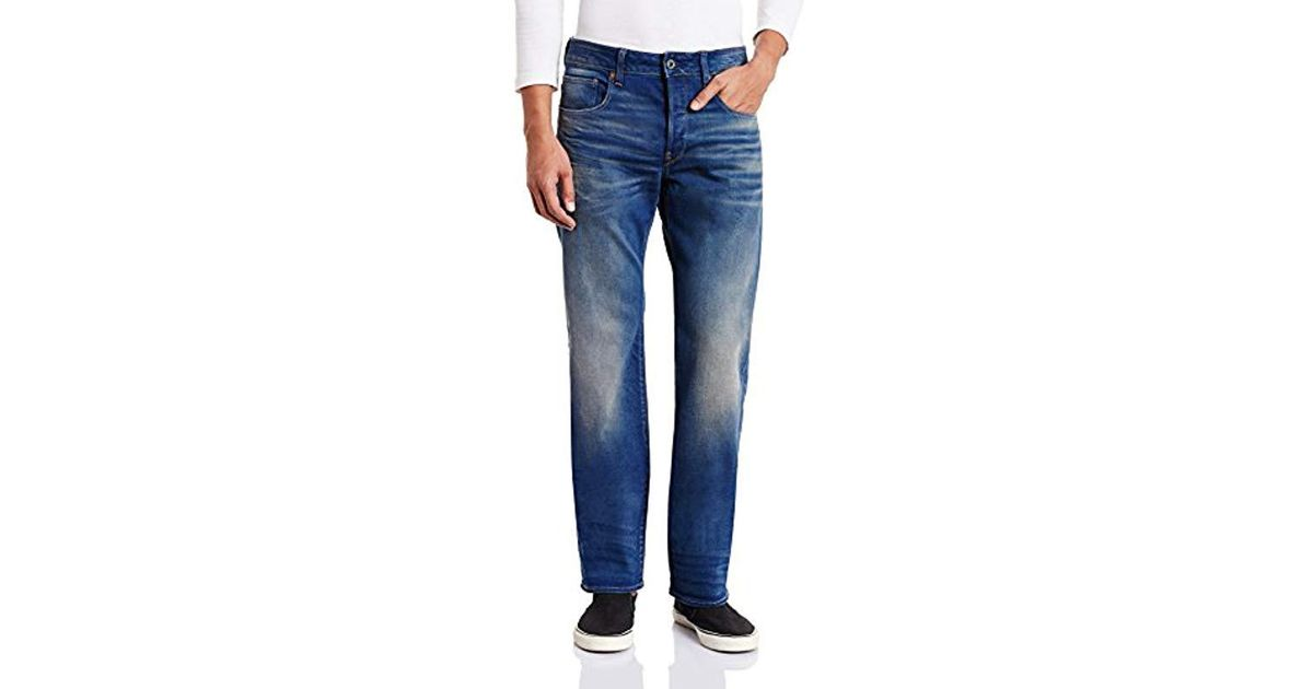 77e30681ee2b94 G-Star RAW Revend Straight Jeans in Blue for Men - Lyst