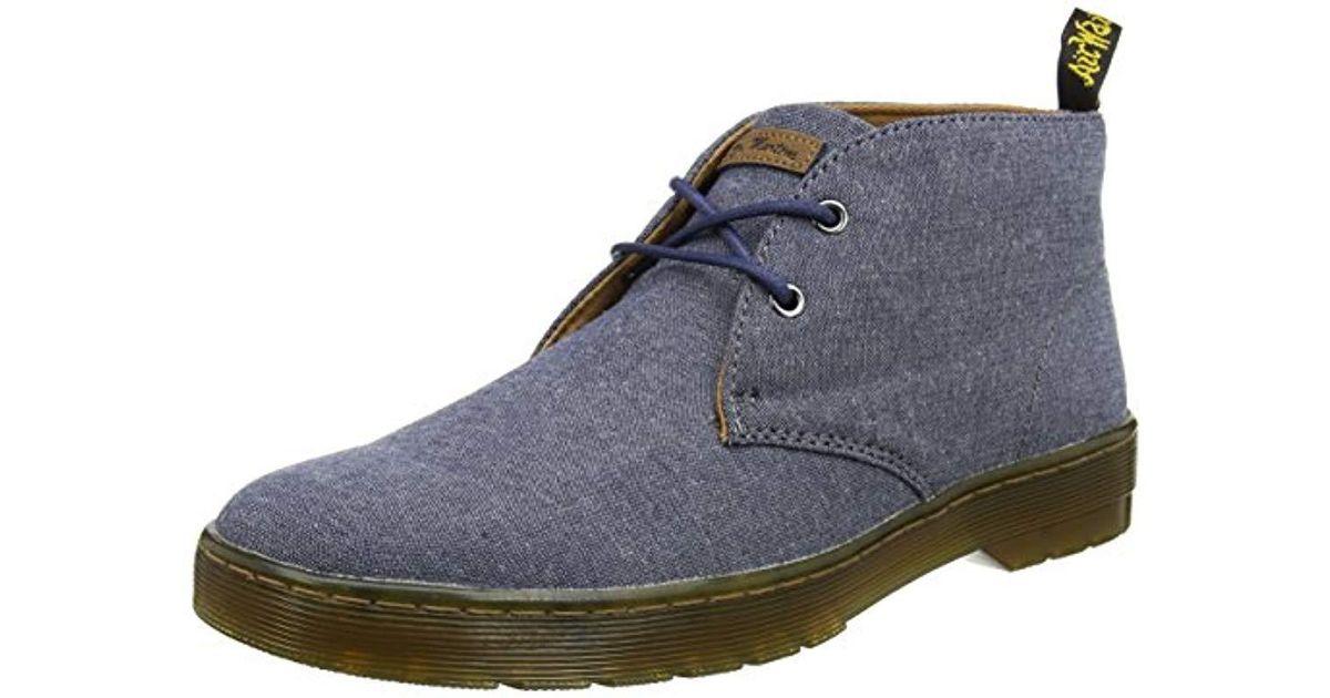b9056aaaa7a Dr. Martens Blue Mayport True Navy Chambray Twill Desert Boots for men
