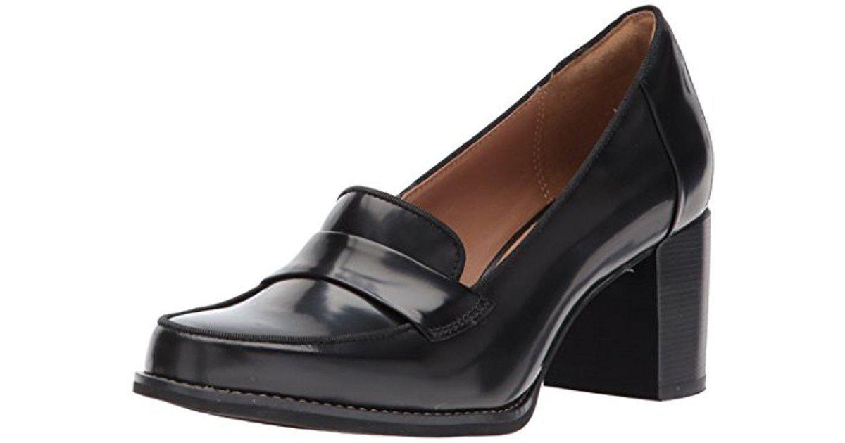 1e2e2d8a089 Lyst - Clarks Tarah Grace Penny Loafer in Black - Save 55%