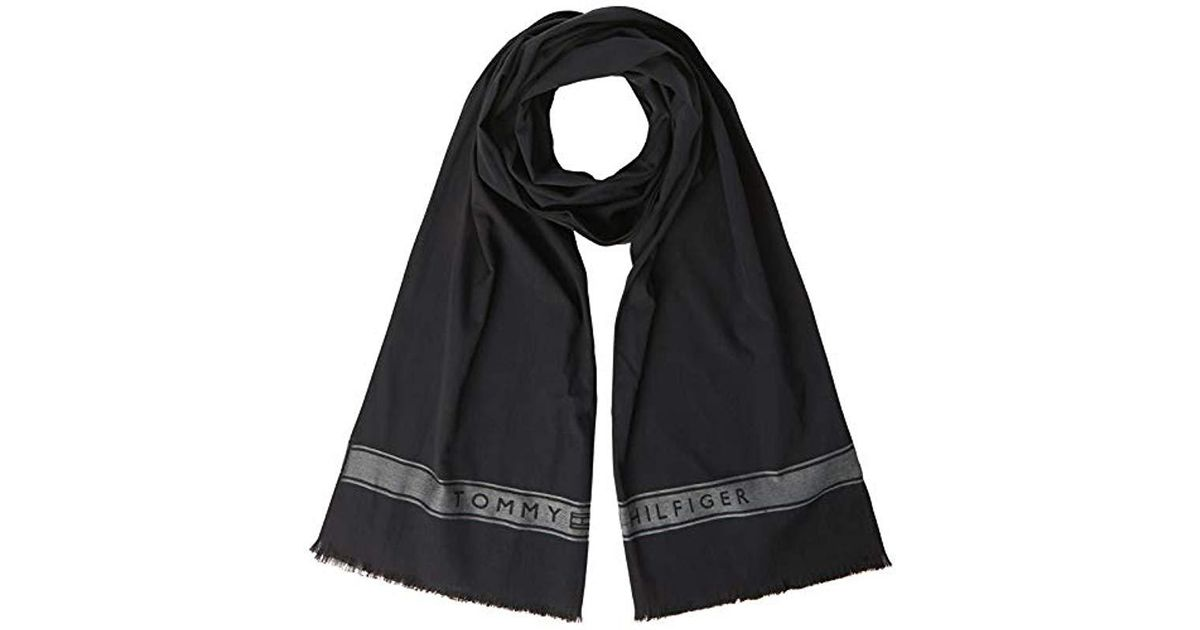 18a2b3adad32 Tommy Hilfiger Selvedge Scarf (black 002), One (size  Os) in Black for Men  - Lyst
