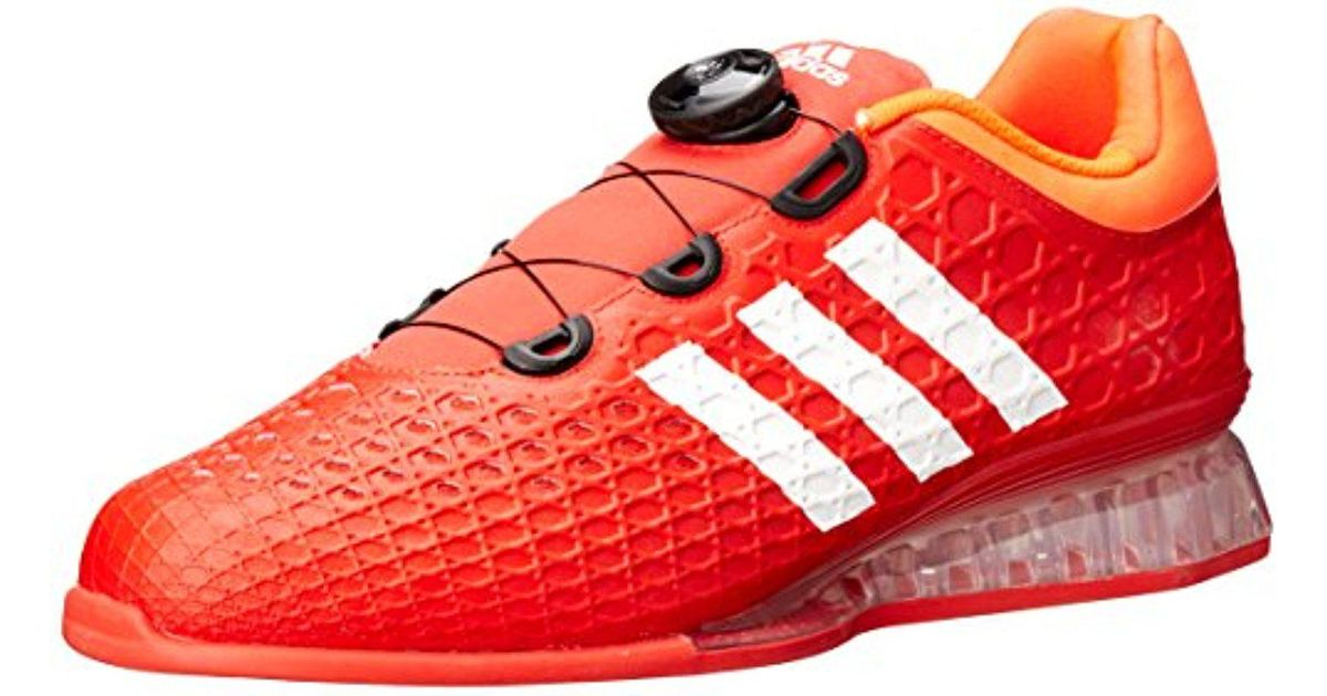 Adidas Red Leistung 16 Weightlifting Shoes for men