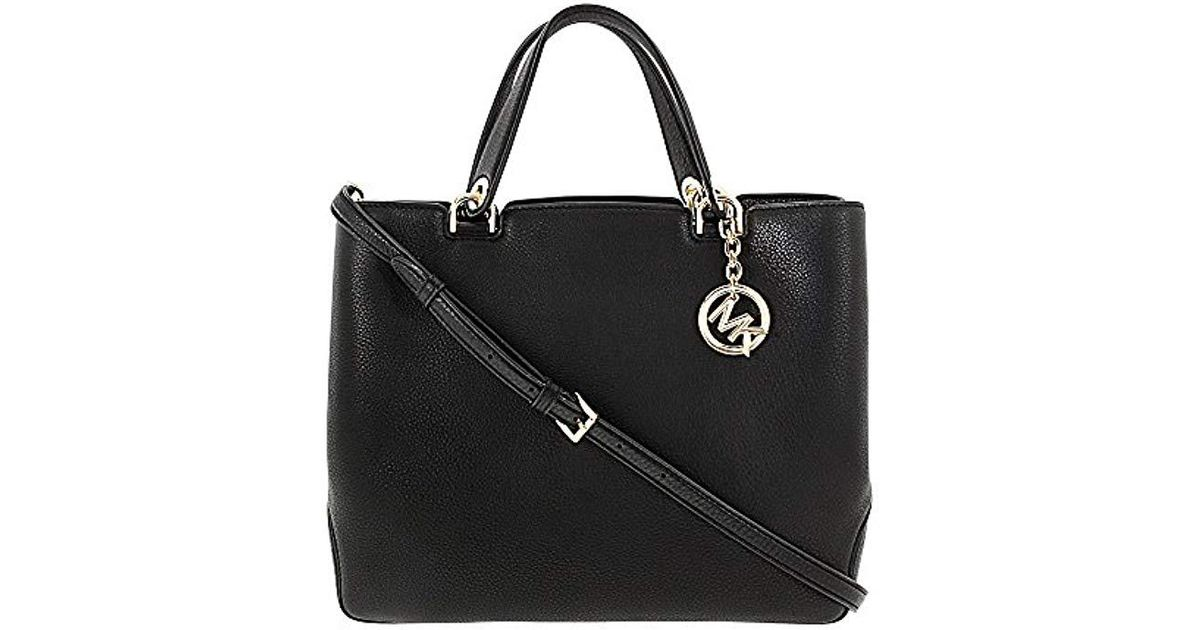 d15ae5471c92c7 Lyst - Michael Kors Leather Anabelle Large Top Zip Tote Bag in Black