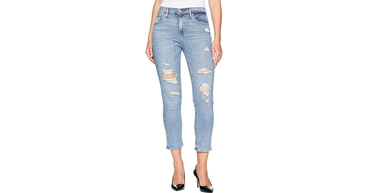 6122f6c4a062a Lyst - Levi s 724 High Rise Straight Jeans Black Sheep in Blue - Save 10%