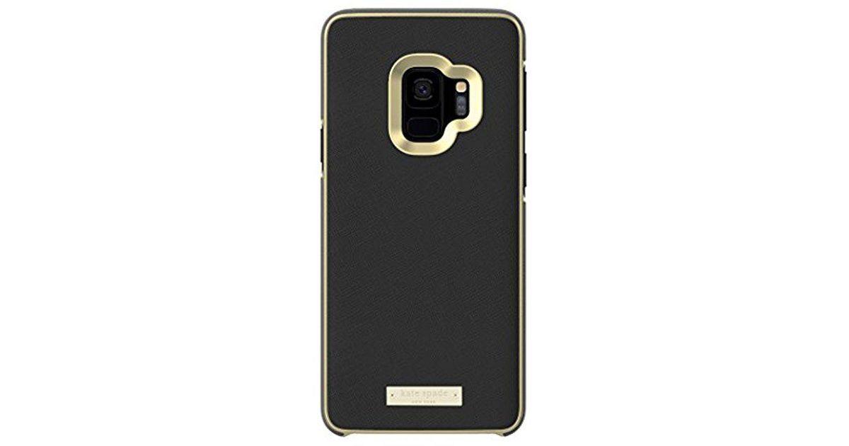 cheap for discount 77194 f2755 Kate Spade Wrap Case For Samsung Galaxy S9+ - Black Saffiano Black ...