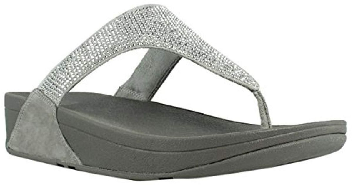 53e4c1f46ce Lyst - Fitflop Slinky Rokkit Toe-post Sandal in Metallic