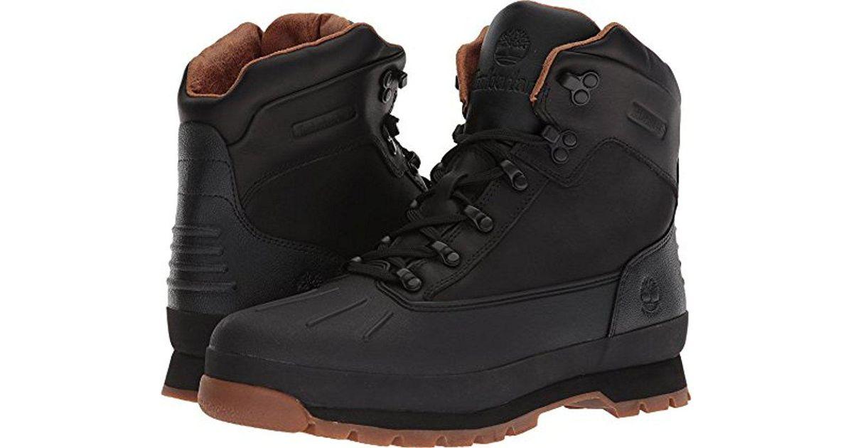 d47a70c4b5d Timberland Black Euro Hiker Shell Toe Wp Winter Boot for men