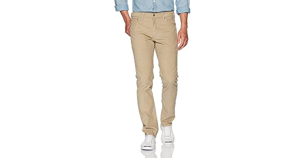 72d9ce23 Levi's 511 Slim Fit Corduroy Jean in Natural for Men - Lyst