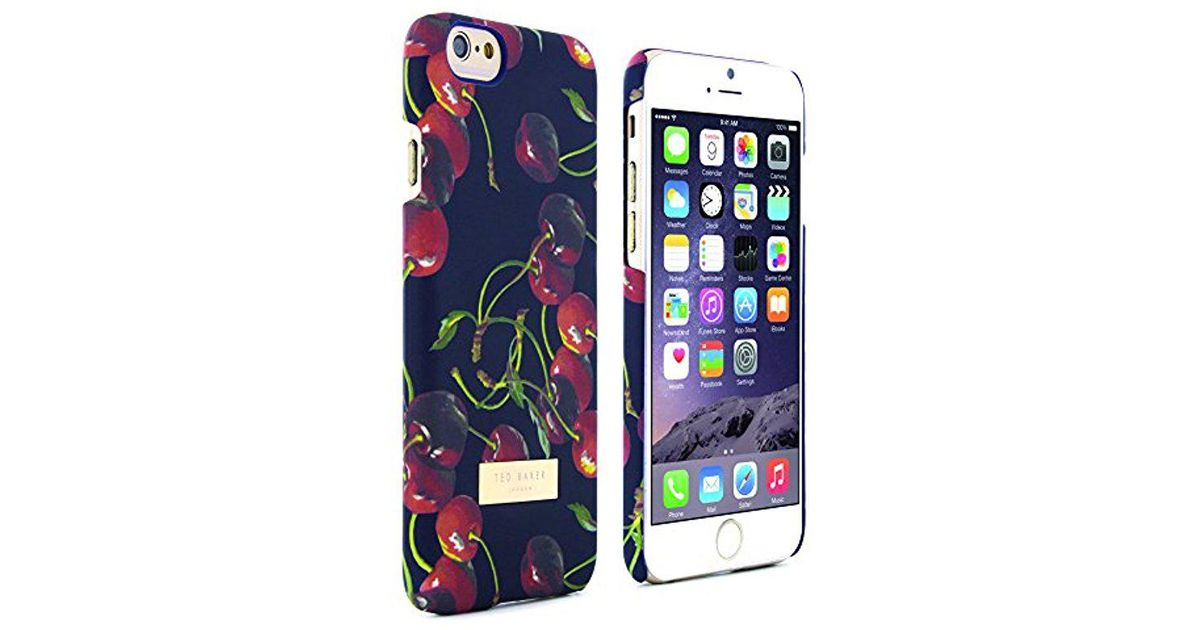 ab1593e1dfa0f Lyst - Ted Baker 32289 Portae Cheerful Cherries Polycarbonate Hard Shell  Phone Case