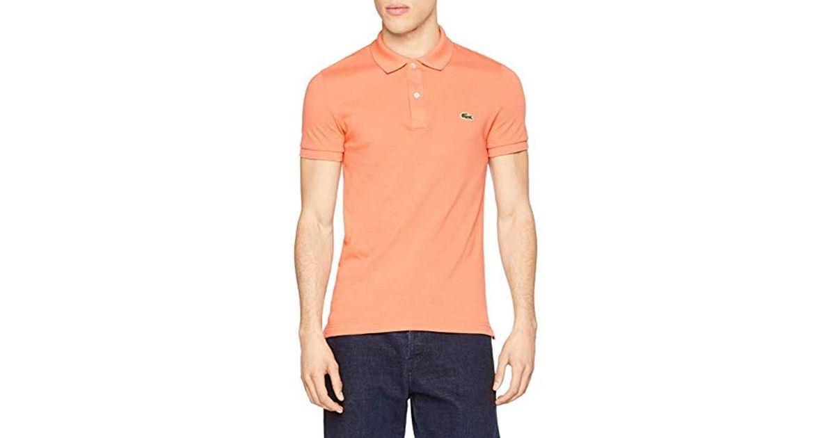 87ced81d69 Lacoste Polo Shirt in Orange for Men - Lyst