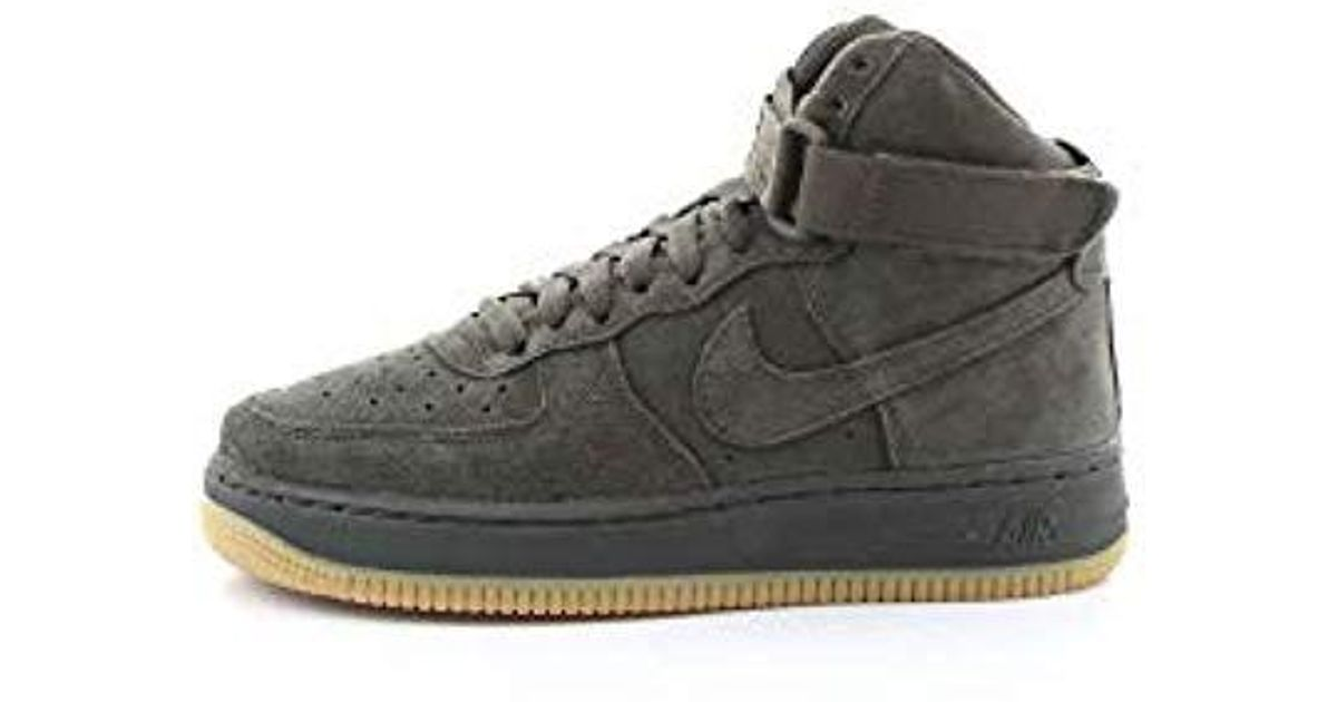 Nike Air Force 1 High Lv8 (gs) Fitness Shoes, Multicolour Sequoiagum Light Brown 300, 5.5 Uk for men