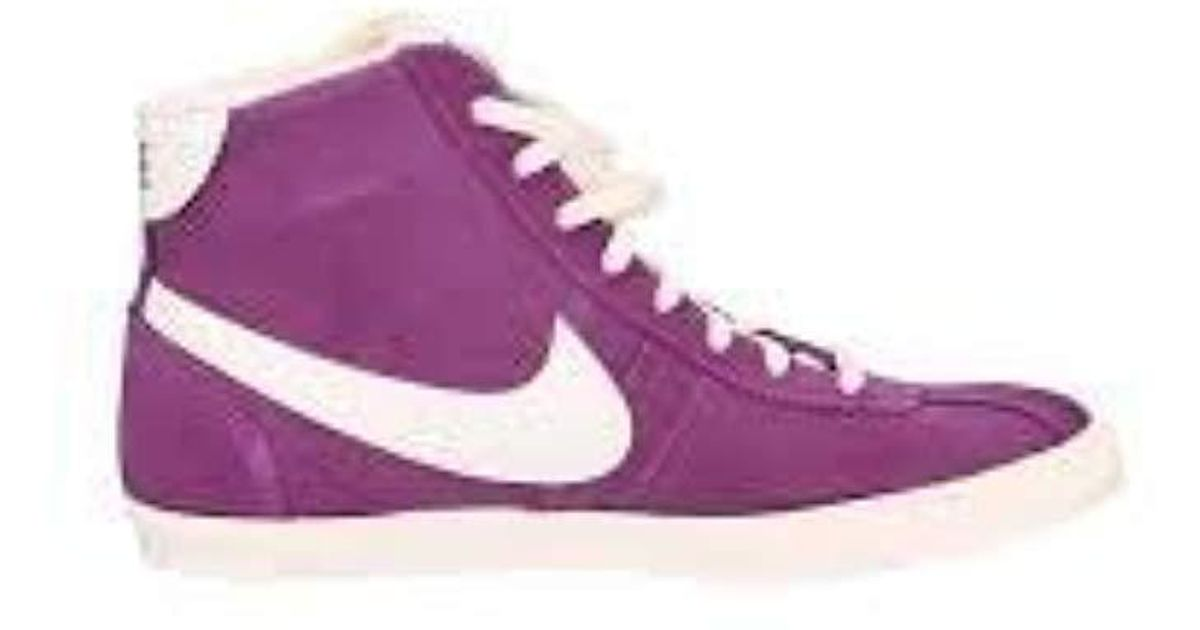 Nike Purple Wmns Bruin Lite Mid Sneakers Donna Alta Suede Donna Mod. Nik543259