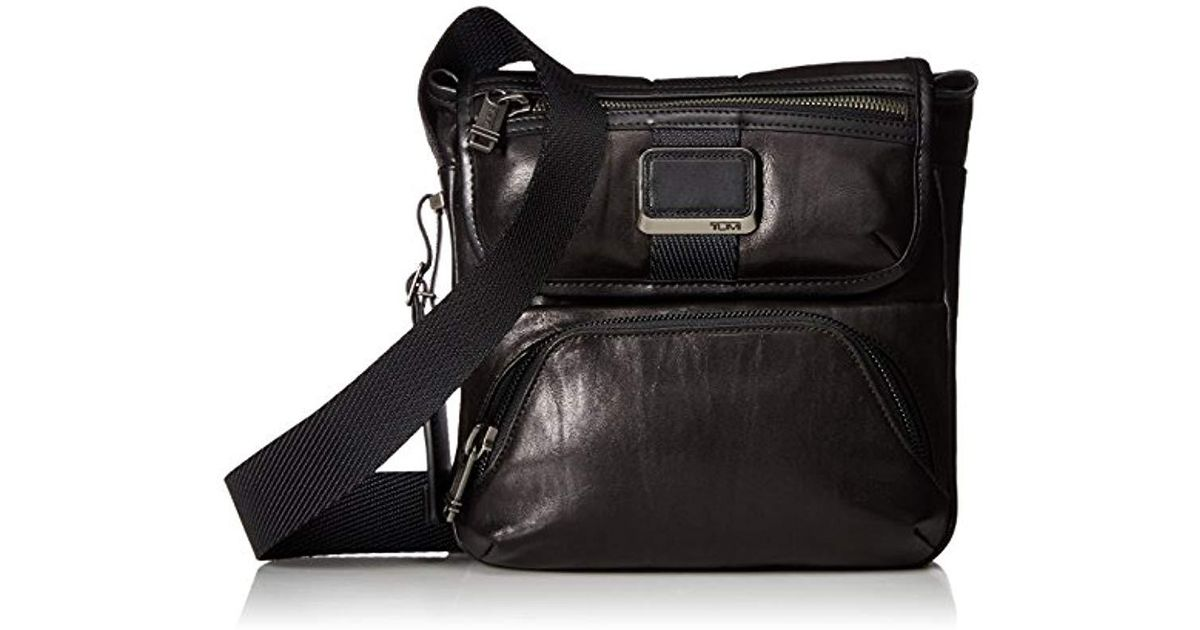 13d0174b4732 Lyst - Tumi - Alpha Bravo Barton Crossbody Bag - Leather Satchel For And -  Black in Black for Men