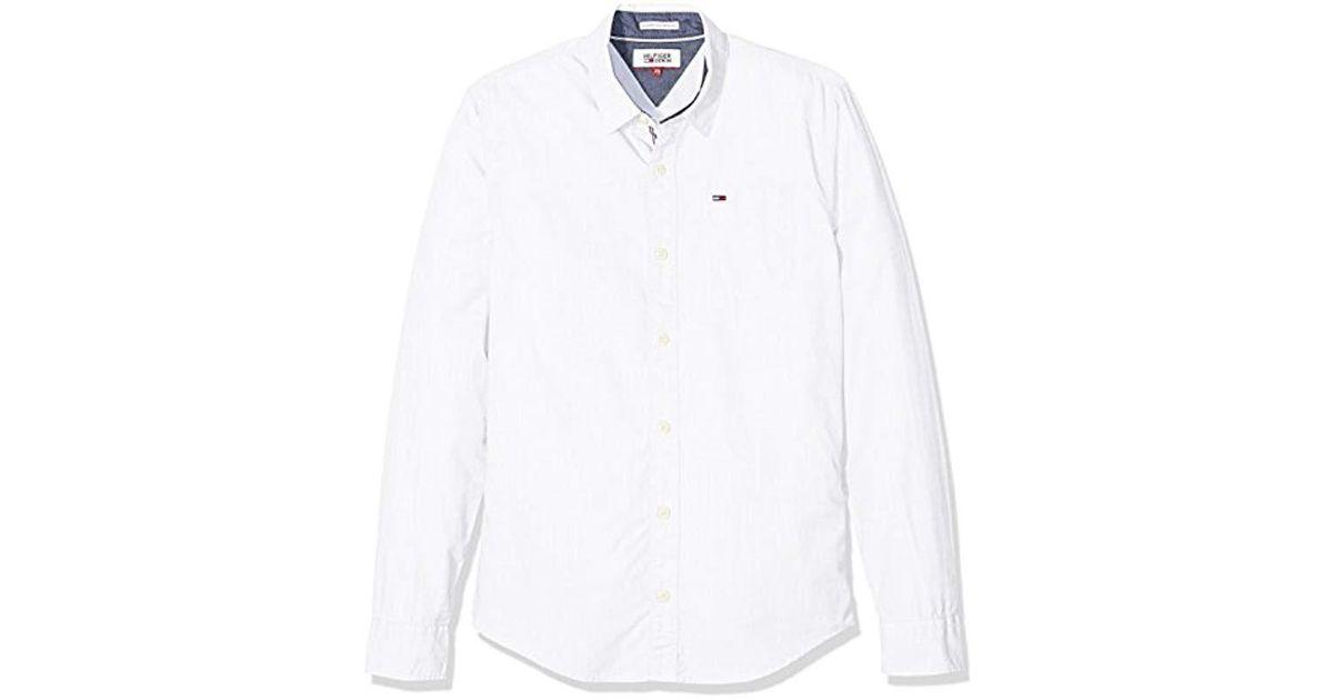 Tommy Hilfiger Original End L s Sports Shirt in White for Men - Lyst 0d1c76aaf237