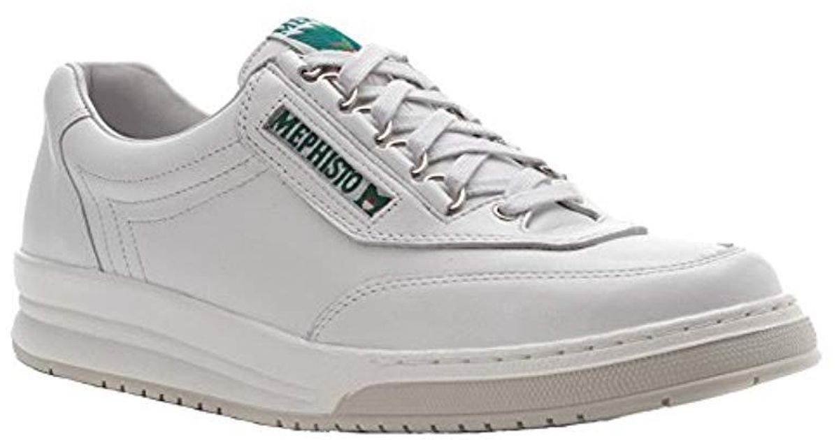 d1c1c073f65dd Mephisto White Match Walking Shoe for men