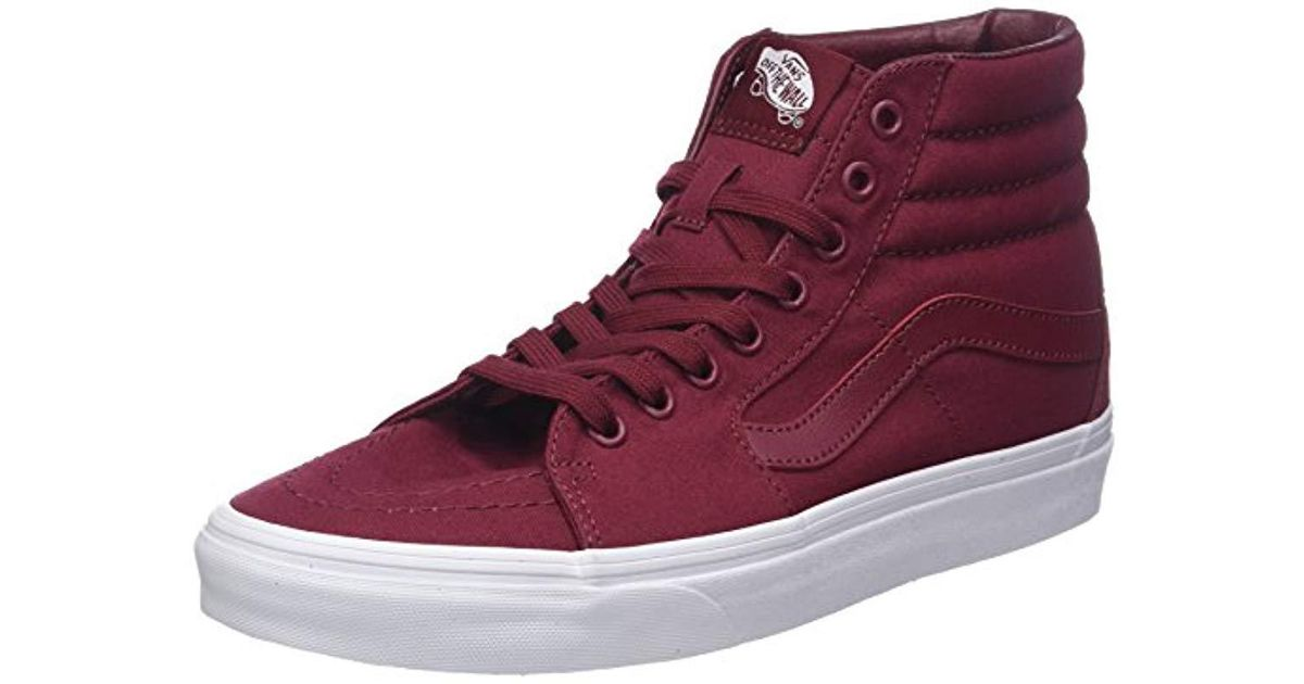Vans Unisex Adults  Sk8-hi Hi-top Trainers in Red for Men - Lyst a2cb8e3c8