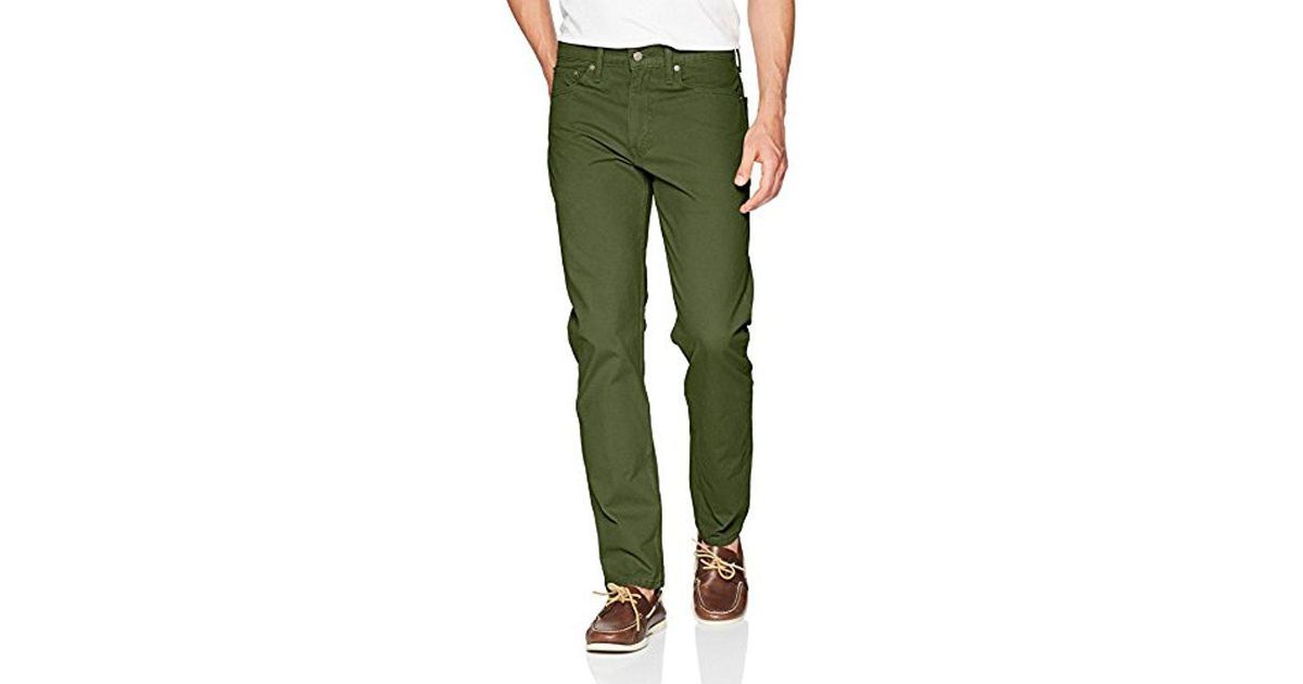 b7f8aa95d22 Levi's 502 Regular Taper Fit Pant in Green for Men - Lyst
