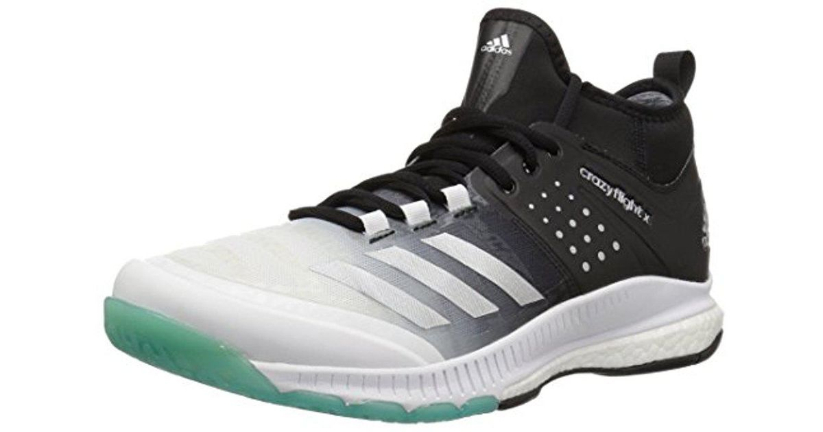 the best attitude 0c0db ba493 Lyst - Adidas Originals Adidas Shoes   Crazyflight X Mid Volleyball Shoe -  White metallic Silver black (10.5 M Us) in Metallic for Men