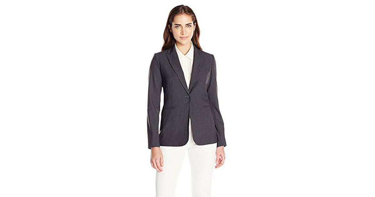 a6dbe4d3253c Lyst - Calvin Klein Single Button Suit Jacket in Gray